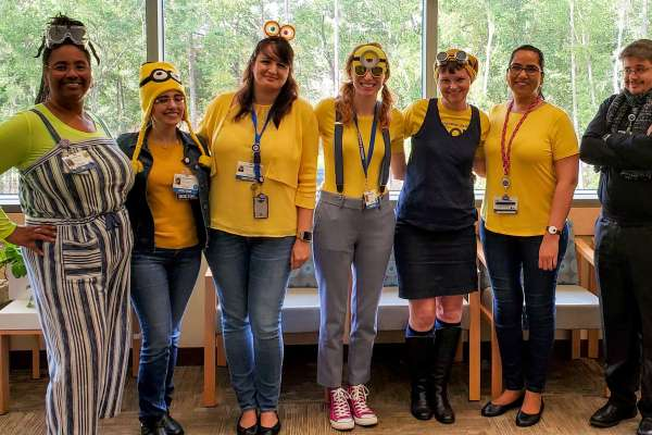 UF Child Psychiatry dresses up for Halloween as minions