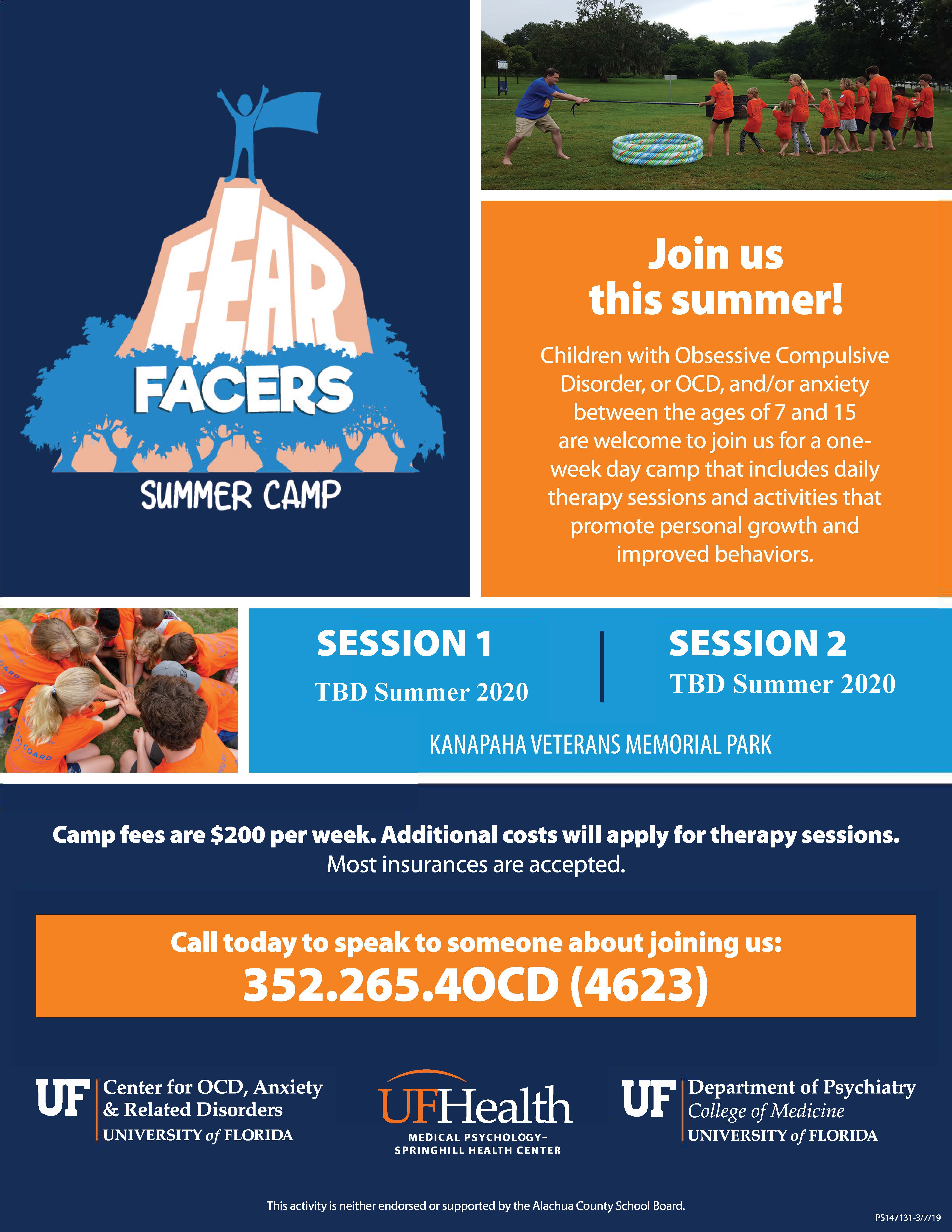 Fear Facers Camp » Center for OCD, Anxiety, & Related