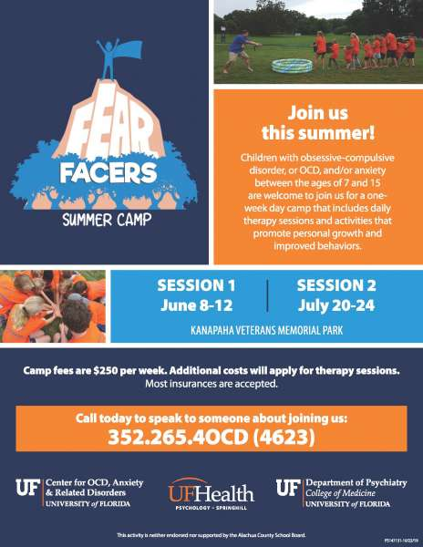 Fear Facers Summer Camp 2020 flyer