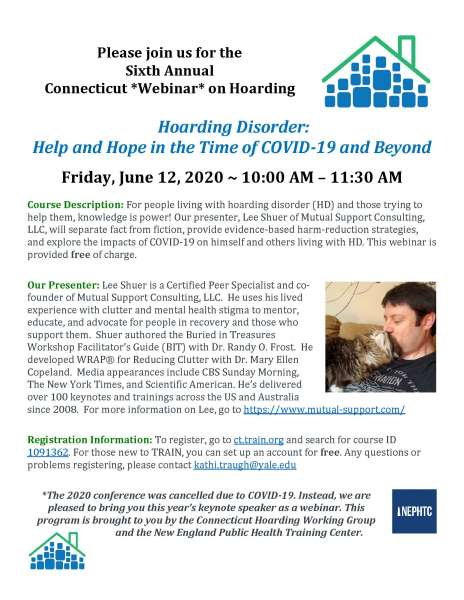 6th Annual CT Conference on Hoarding -JUNE 12 WEBINAR